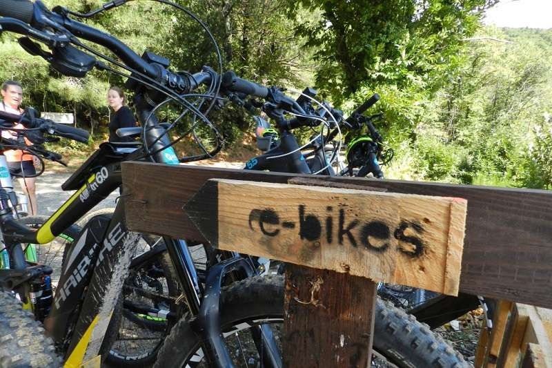 Photo of [subject] Mountain e-bike guided route with river swim and picnic
